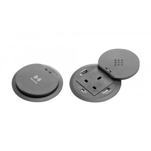 Power Grommets with QI Wireless Charging