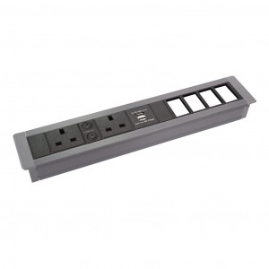 Horizontal Surface Mount In Desk Power and Data Units