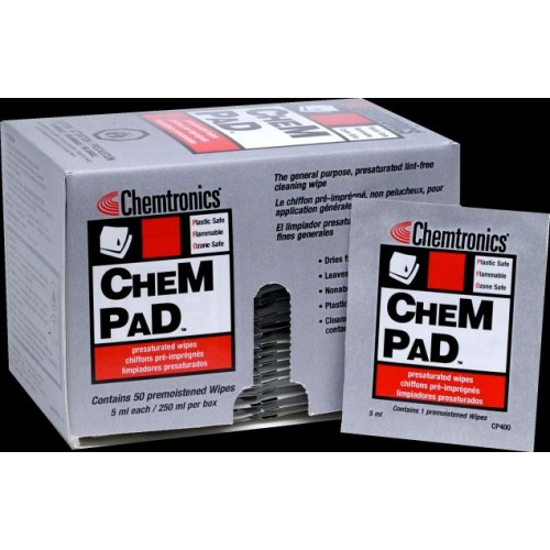 CHEM PAD Presaturated Pads - 50 Pre Saturated Wipes