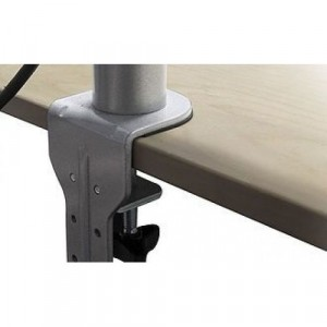 Height Adjustable Single Flat Screen Arm, Desk Clamp and Through Desk Fixing