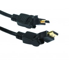 High Speed with Ethernet Male - Male Swivel HDMI Lead 10 mtr