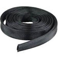 Black Nylon LSOH Braided Sleeving 18 - 34 mm x 25 mtr
