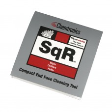 SQR Compact Fibre OpticEnd Face Cleaning Platform - Pad of 10 Bonded Wipes